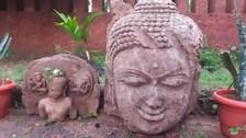8th Century Buddha Idols Found From Baitarani River Bed In Odisha