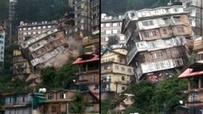 Eight-Storey Building Collapses Due To Landslide In Shimla