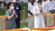 Sonia, Rahul Pay Tributes To Mahatma Gandhi, Shastri On Their Birth Anniversaries
