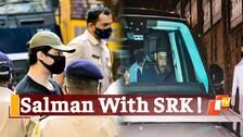 WATCH: Salman Khan Visiting Shah Rukh Khan's Residence After Aryan's Arrest