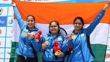 Junior Shooting Worlds: Manu Bhaker, Naamya Kapoor, And Rhythm Sangwan Strike Gold