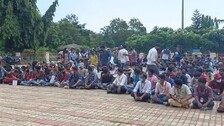 Berhampur University Students Stage Sit-In Over Hiked Hostel Fee