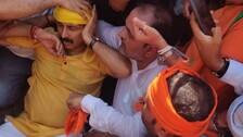 BJP MP Manoj Tiwari Hit By Water Canon In Delhi, Hospitalised