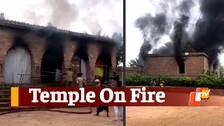 Massive Fire In Tara Tarini Temple During Navratri