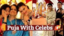 Durga Puja With Bollywood Celebs| Mouni Roy, Kajol, Sumona Chakravarti At Mumbai Puja Pandal