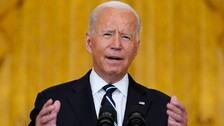 US President Joe Biden Stands Ground On Afghanistan Exit