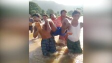 Without Bridge, Patient In Odisha Carried On Shoulders Across River To Reach Hospital