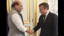 Rajnath Singh Meets Macron To Discuss Stronger India-France Defence Ties