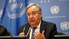 Int'nl Community Must Unite To Ensure Afghanistan Never Again Used As Platform For Terrorist Outfits: Guterres