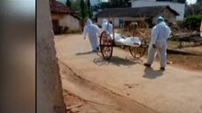 Covid Stigma: Bodies Of Covid-19 Patients Carried On Cart, Cycle For Last Rites