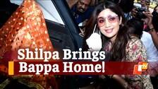 WATCH Shilpa Say 'Ganpati Bappa Morya' As She Brings Idol Home Ahead Of Ganesh Chaturthi