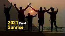 Watch: First Sunrise Of 2021 From Puri Beach In Odisha