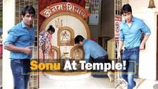 Bollywood Actor Sonu Sood Spotted Paying Obeisance At Mahakaleshwar Temple In Mumbai