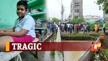 Minor Boy Swept Away In Flooded Drain At Bhubaneswar